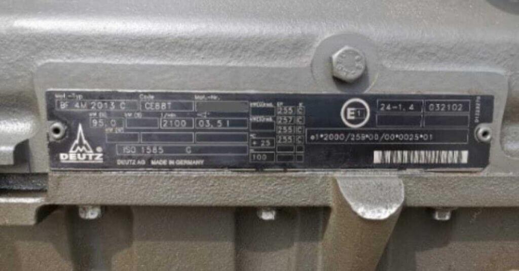 Deutz variklių remontas ir kur rasti variklio serijos numerį?